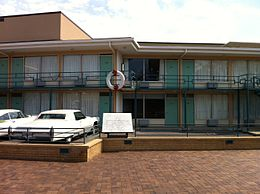 The Lorraine Motel, Memphis, TN. The wreath on the railing rests in front of Room 306.